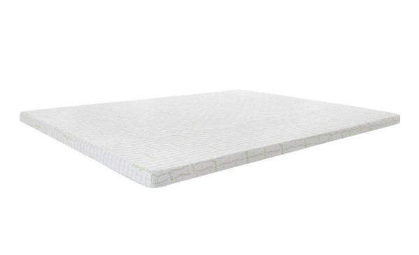 White Tight Toop Super Soft Foam Topper With Cover Full Mattress M7000-2