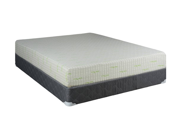 Comfort Bedding Visco Gel Tight Top Medium Plush Single Sided Twin Mattress and Box M709-12