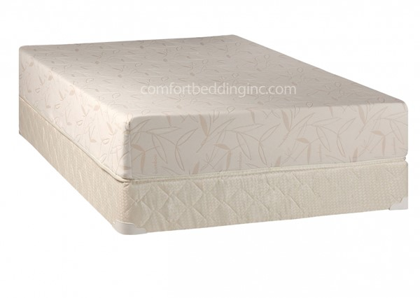 Comfort Bedding Visco Touch 10 Inch Tight Top Medium Plush Single Sided Queen Mattress and Box M710-6