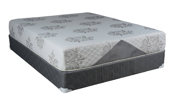 Comfort Bedding Visco Gel 10 Inch Tight Top Medium Plush Single Sided Queen Mattress and Box M720-6