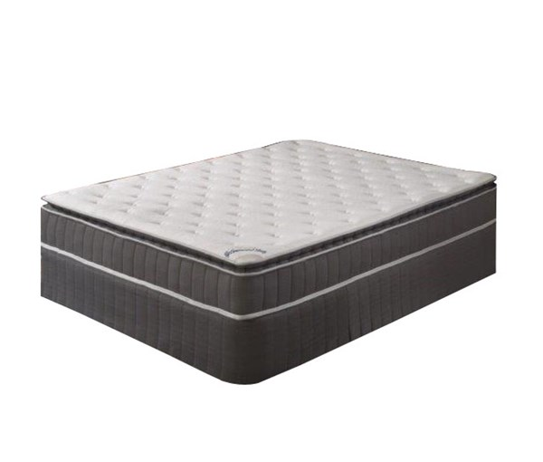 Acura Toop Gray Pillowtop Medium Firm Single Sided Twin Mattress & Box M900-2
