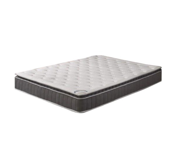 Acura Toop Gray Pillowtop Medium Firm Single Sided Queen Mattress M900-5