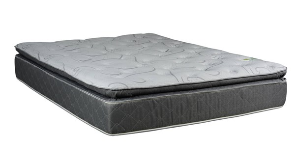 Comfort Bedding Madrid Grey White Foam Encased Pillowtop Medium Plush Twin Mattress M9030-1