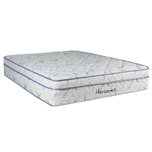 Mercedes  White Light Gray Eurotop Plush Single Sided Queen Mattress M940-5