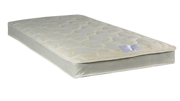 Classic Beige Tight Top Gentle Firm Single Sided Twin Mattress M99-1