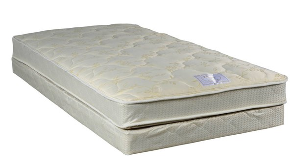 Comfort Bedding Classic Tight Top Gentle Firm Single Sided Twin Mattress and Box M99-2