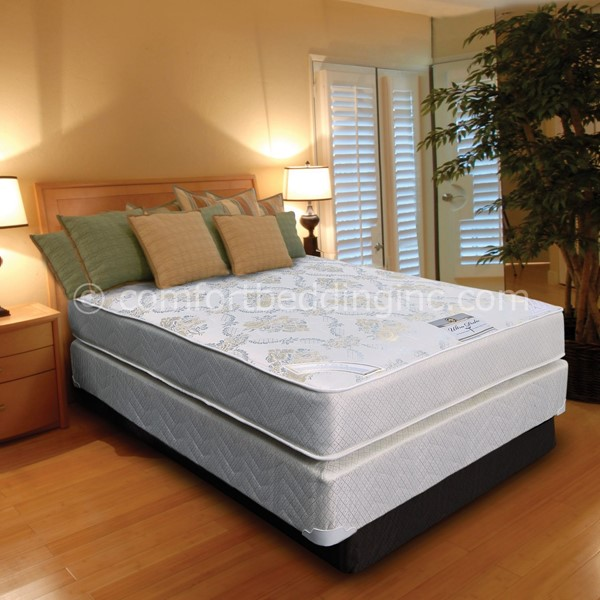 Comfort Bedding Ultrapedic Tight Top Firm Double Sided Twin Mattress and Box M210-02