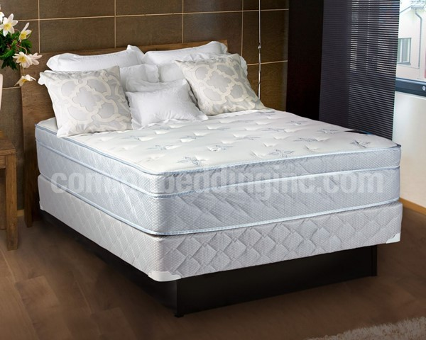 Comfort Bedding Natures Foam Encased Eurotop Medium Plush Queen Mattress and Box M441-6