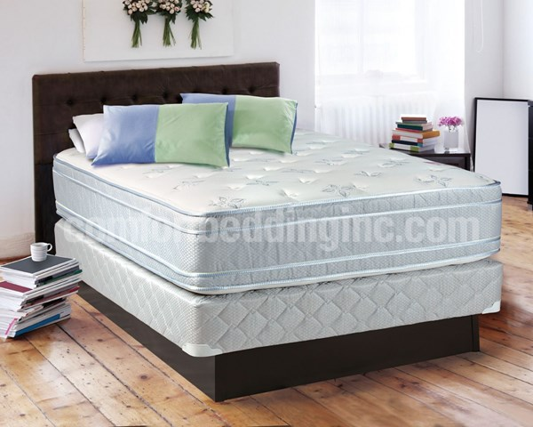Sensation Blue Foam Eurotop Medium Plush King Mattress And Box M442-8