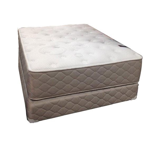 Highlight FE White Brown Tight Top Single Sided Queen Mattress And Box M681-06