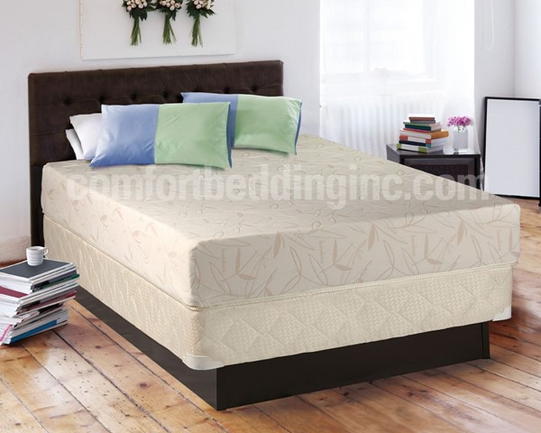 Comfort Bedding Visco Touch 8 Inch Tight Top Medium Plush Single Sided King Mattress and Box M708-8