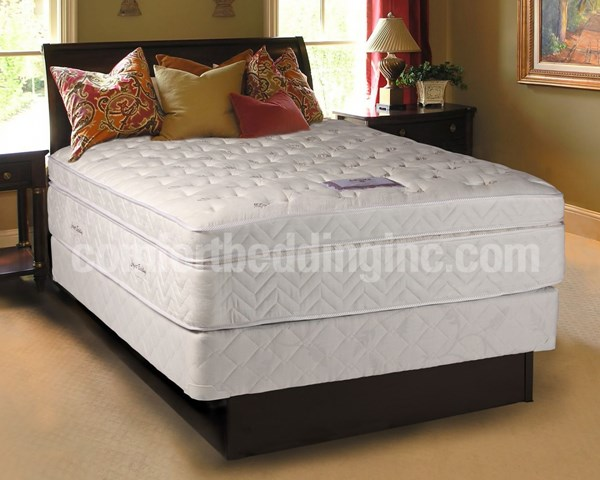 Comfort Bedding Lexus Boxtop Pillowtop Medium Plush Single Sided Queen Mattress M950-3