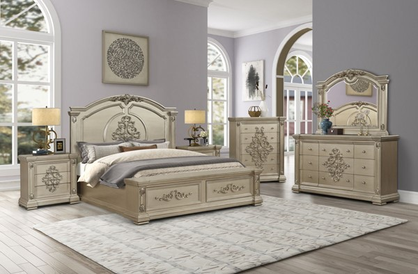 Cosmos Furniture Alicia 6pc Bedroom Set with Beds CMS-ALICIA-BED-S-VAR