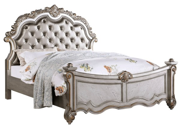 Cosmos Furniture Melrose Silver King Bed CMS-Melrose-King