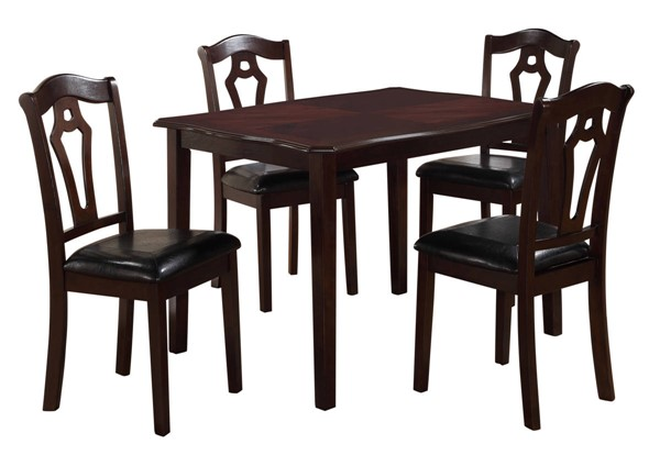 Cosmos Furniture Bell Espresso 5pc Dining Set CMS-Bell-Dining-Set