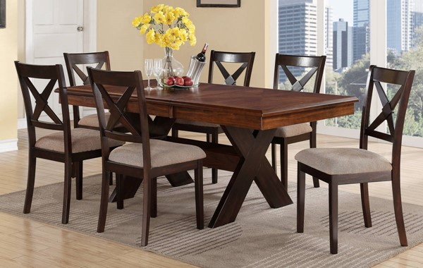 Cosmos Furniture Kaci Cherry 7pc Dining Room Set CMS-KACI-DR-S1