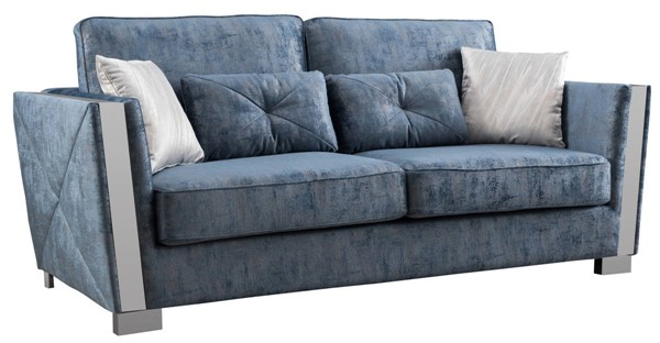 Cosmos Furniture Kingston Blue Sofas CMS-KINGSTONE-SF-VAR