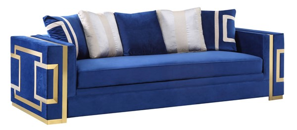 Cosmos Furniture Lawrence Navy Blue Sofa CMS-Lawrence-Sofa