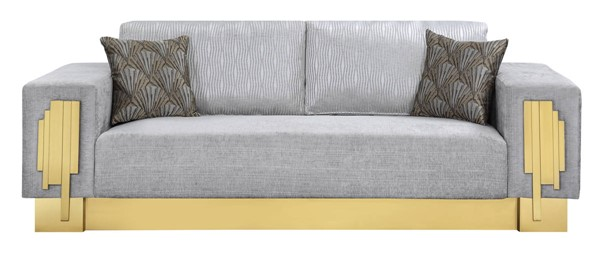 Cosmos Furniture Megan Light Gray Sofa CMS-Megan-Sofa