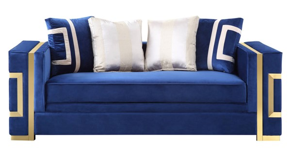 Cosmos Furniture Lawrence Navy Blue Loveseat CMS-Lawrence-Loveseat
