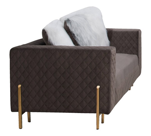 Cosmos Furniture Madison Gray Loveseat CMS-Madison-Loveseat