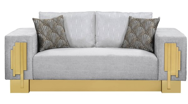 Cosmos Furniture Megan Light Gray Loveseat CMS-Megan-Loveseat