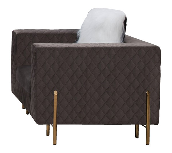 Cosmos Furniture Madison Gray Chair CMS-Madison-Chair