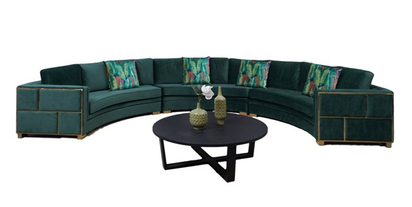 Cosmos Furniture Marco Green Sectional CMS-MARCO-SECTIONALSOFA