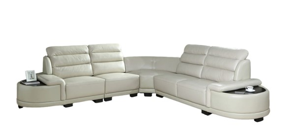 Cosmos Furniture Orchid White Sectional CMS-ORCHID-SECTIONALSOFA