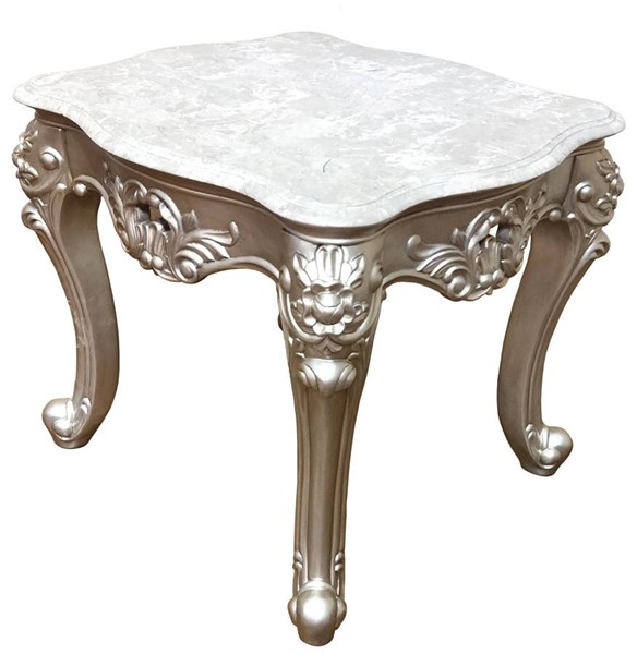 Cosmos Furniture Ariel Silver End Table CMS-Ariel-EndTable