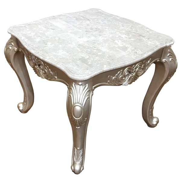Cosmos Furniture Emily Silver End Table CMS-Emily-EndTable