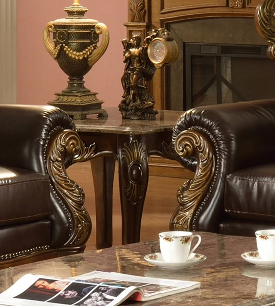 Cosmos Furniture Britney Cherry End Table CMS-Britney-EndTable