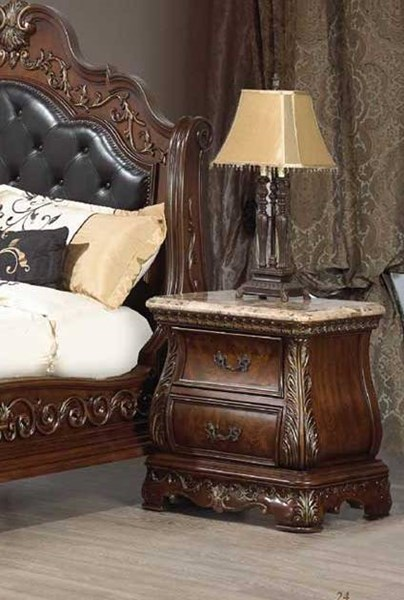 Cleopatra Cherry Wood Nightstand The Classy Home
