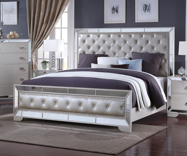 Gloria Cream Queen Bed CMS-GLORIA-QBED