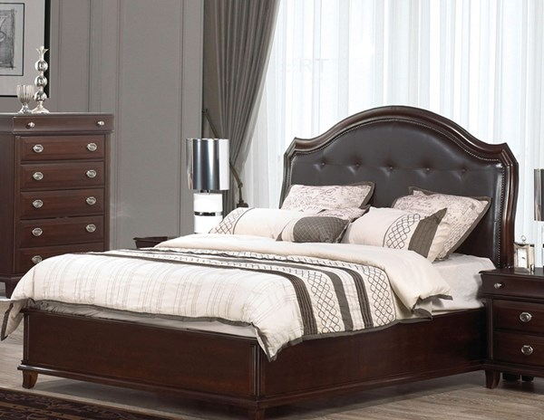 Tango Dark Brown Black Wood King Bed CMS-TANGO-KBED