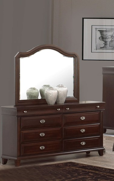 Tango Dark Brown Wood Dresser And Mirror The Classy Home