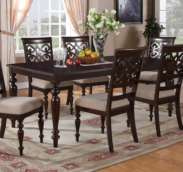 Zora Dark Brown Beige Wood 18 Inch Take-Off Leaf Dinette Table CMS-ZORA-DT