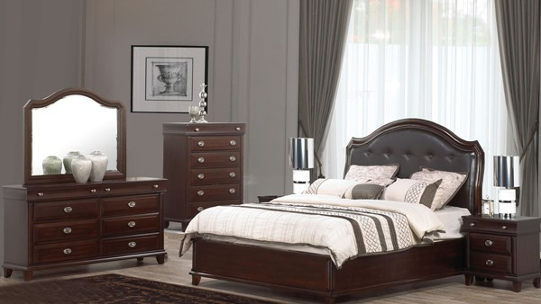 Tango Dark Brown Black Wood Master Bedroom Set CMS-TANGO-BR