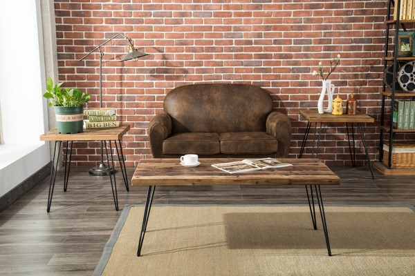 Crawford and Burke Brixton Brown 3pc Coffee Table Set CNB-10254T3