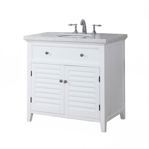 Crawford and burke waterford arctic white truman avenza - Crawford and burke bathroom vanity ...