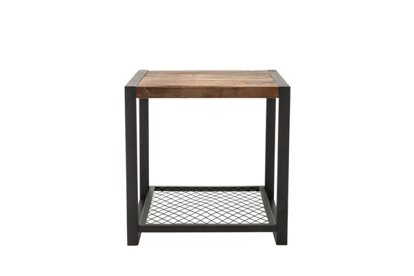 Crawford and Burke Brixton Natural Brown Soho Side Table CNB-10018ET