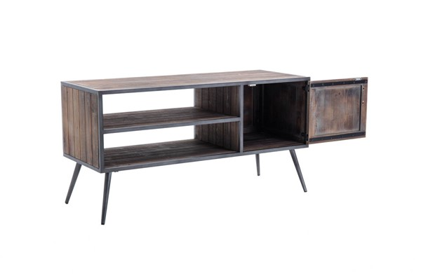 Crawford and Burke Brixton Antique Gray Dresden Media Console CNB-066641MC