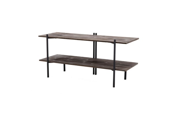 Crawford and Burke Brixton Gray Fulton Burnt TV Stand CNB-11161MA