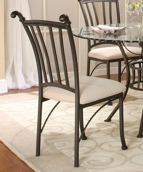 2 Cramco Denali Earth Stone Microsuede Metal Side Chairs CRM-T2095-01