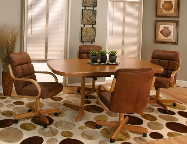 Cramco Atwood Sunset Oak 5pc Dining Room Set CRM-D8030-525