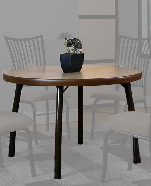 Cramco Bell Beige Wood Linen Laminate Round Dining Table CRM-D8050-57