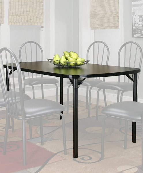 Cramco Ebony Black Laminate Metal Bow End 60 Inch Dining Table CRM-D8121-60