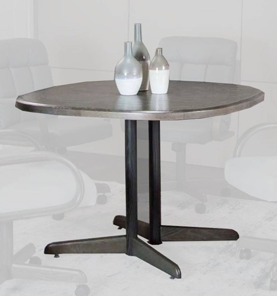 Cramco Mercury Gray Wood 42 Inch Square Dining Table CRM-D8451-74-42