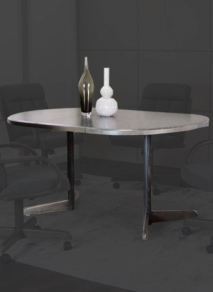 Cramco Mercury Gray Wood 60 Inch Dining Table CRM-D8451-74-60