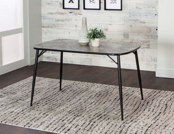 Cramco Nero Magna Laminate Metal Bow End Dining Table CRM-D8482-56